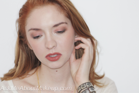 Kat Von D Lolita II on the cheeks, lips and eyes