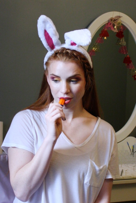 Easter inspired makeup colorful makeup